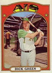 1972 Topps Baseball Cards      780     Dick Green